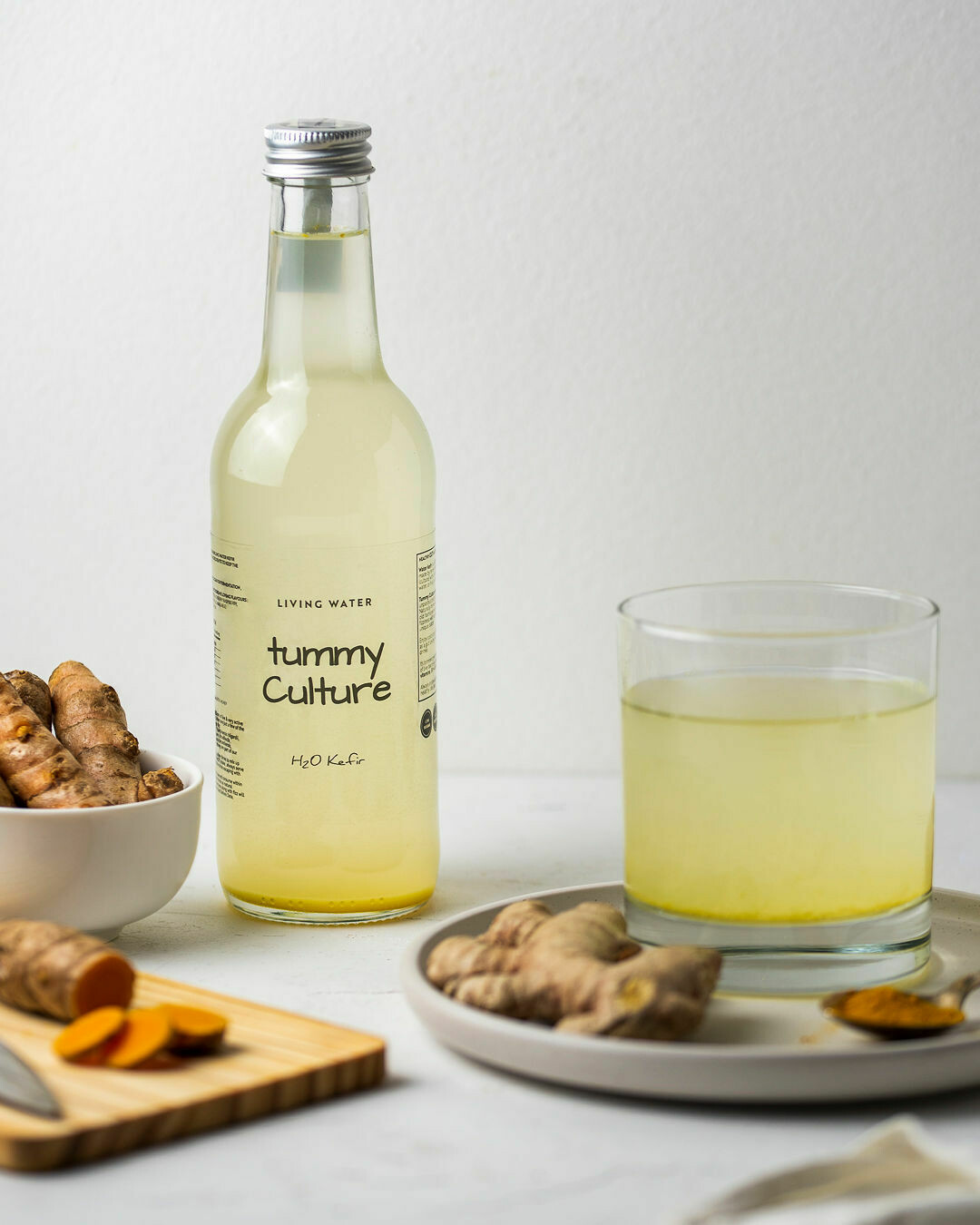 Water Kefir Organic Ginger & Turmeric 330ml