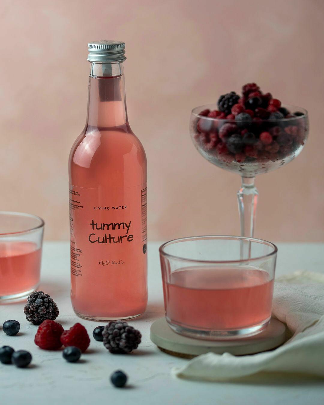 Water Kefir Organic Mixed Berry 330ml