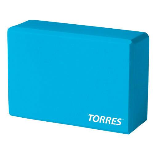 Блок для йоги TORRES голубой