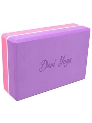 Блок для йоги DEVI YOGA двухцветный