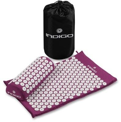 Коврик массажный с подушкой INDIGO фиолетовый