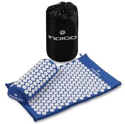 Коврик массажный с подушкой INDIGO синий