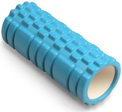 Цилиндр массажный Indigo 14*33 см, голубой