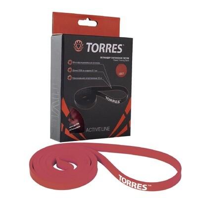 Латексная петля TORRES 30 кг, красный