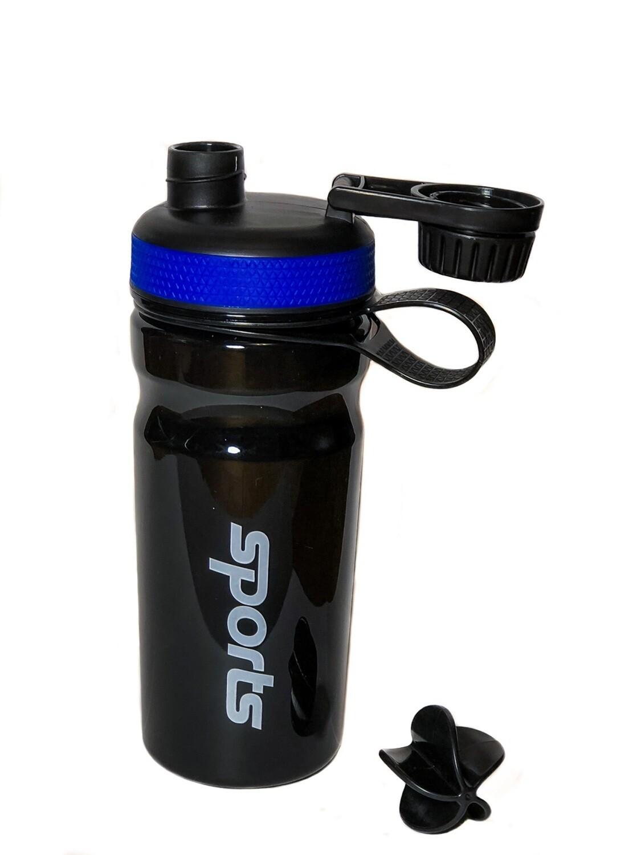 Шейкер Sports 600 мл, черно-синий