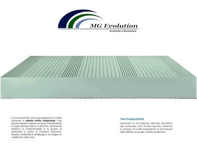 Materasso Air schiumato H 16 cm rivestimento in maglina Resistat