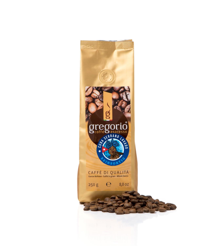 caffè gregorio Cuba Serrano Lavado Reinsortig 250g