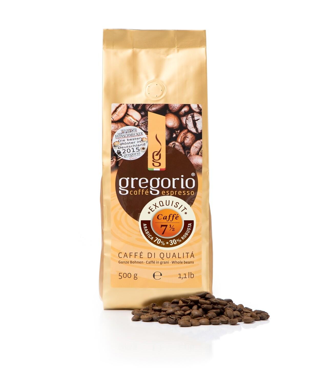 Caffé Espresso gregorio 7 ½ -Bohnen 500g °°°°Exquisit°°°°°