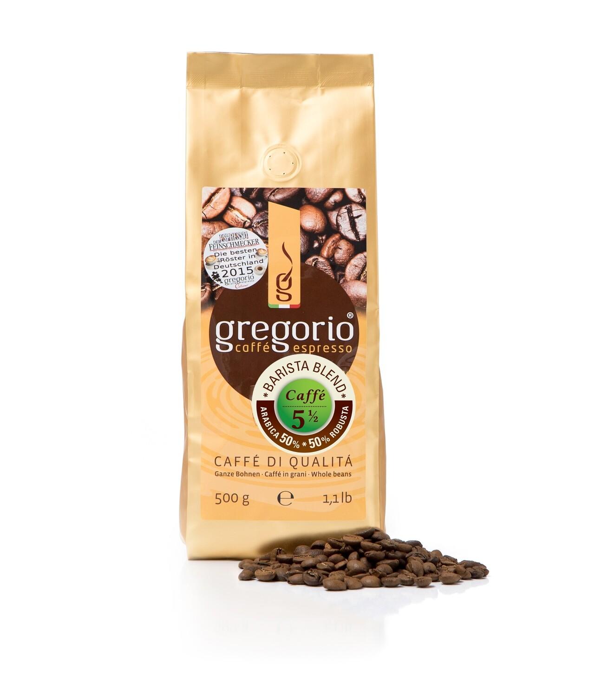 Caffè espresso gregorio 5 ½ Bohnen, Brista Blemd 500g