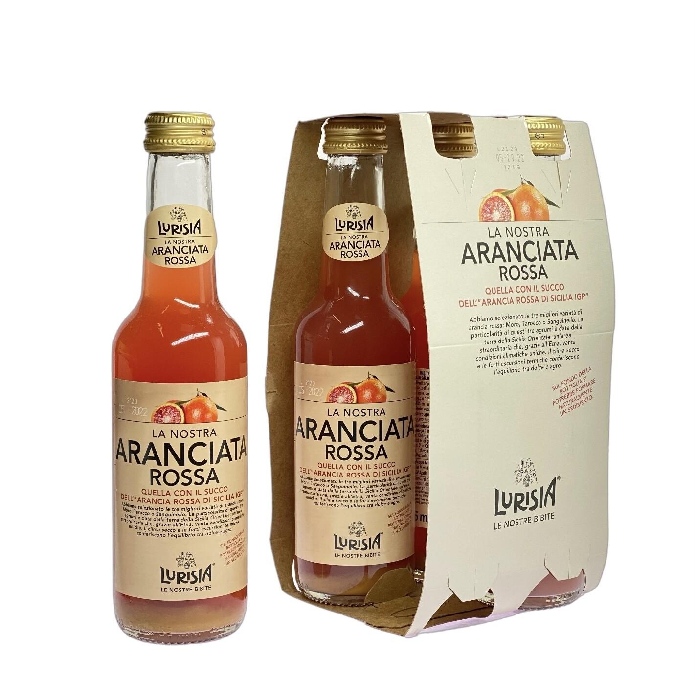 Aranciata Lurisia Arancia Rossa di Sicilia IGP 4 x 275 ml