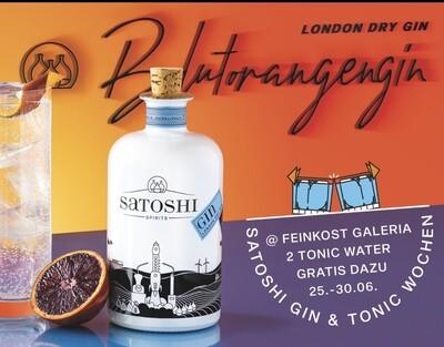 Satoshi London Dry Gin  set 2x Tonic Water von Aqua Monaco 500ml | 44 %VOL