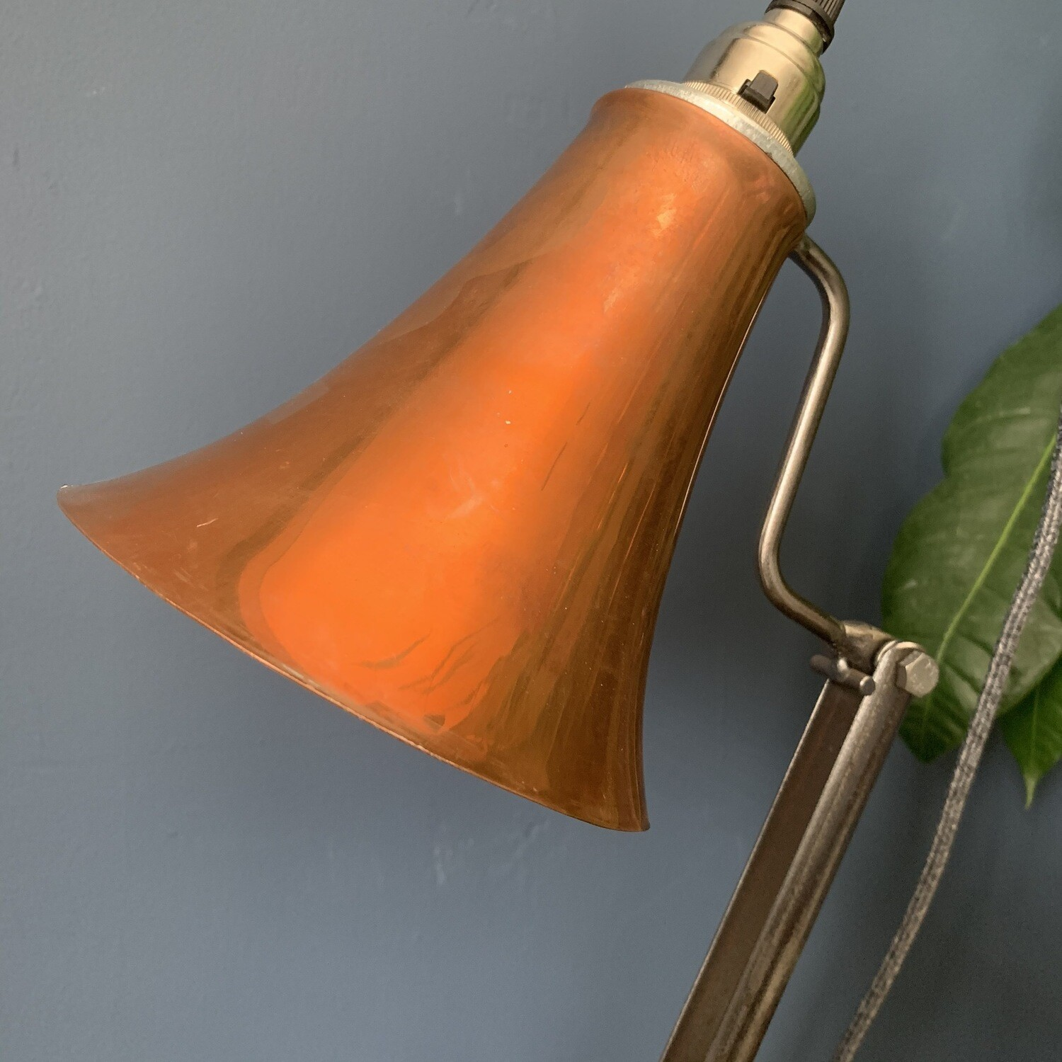 Copper/Steel Industrial Desk Lamp