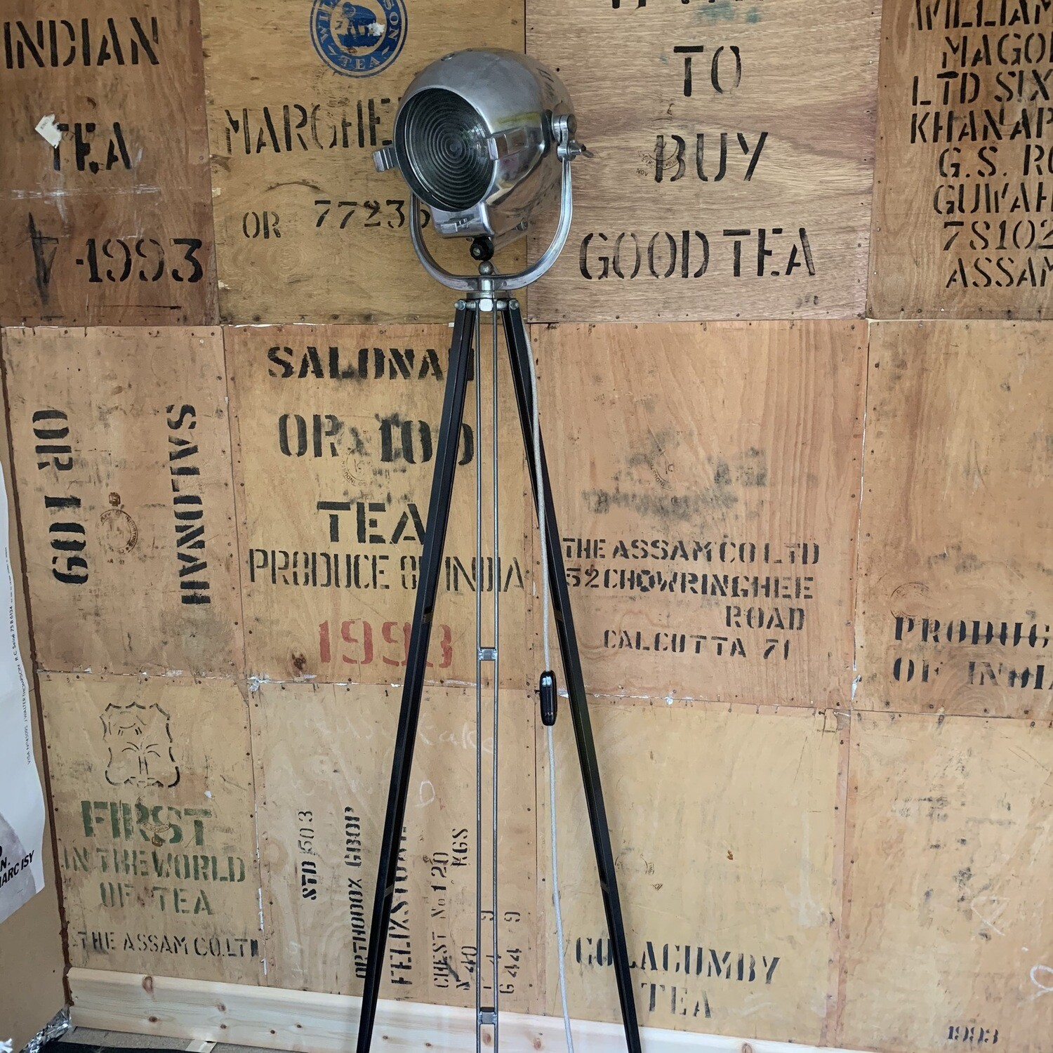 Vintage Theatre Lamp On Tripod (strand 123)