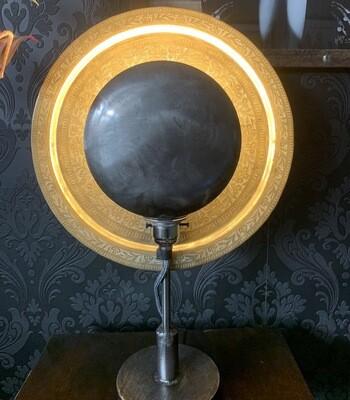 Vintage Brass Plate Eclipse Lamp