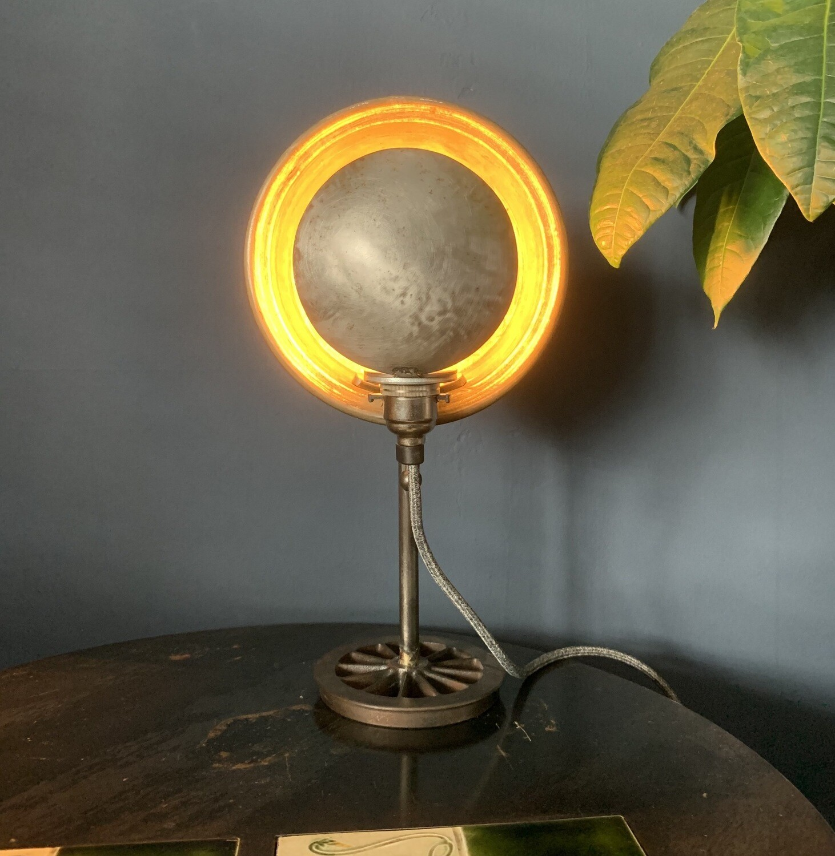 Vintage Copper Pan Lamp