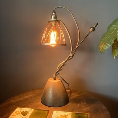 Vintage Industrial Concrete Copper And Steel Desk Lamp
