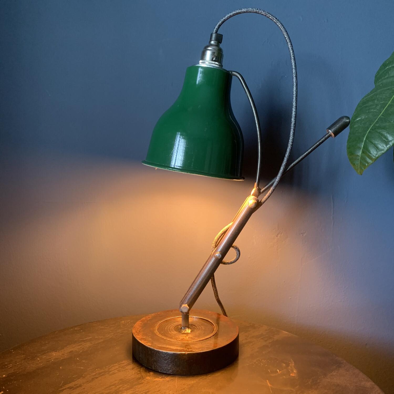Industrial Green Enamel Shade Desk / Table Lamp 2