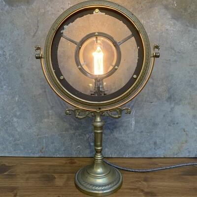 Vintage Brass Mirror Lamp