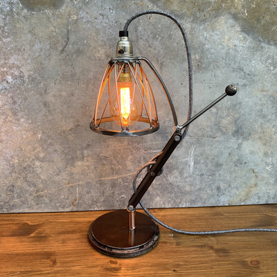 Industrial Steel And Copper Desk / Table Lamp 3