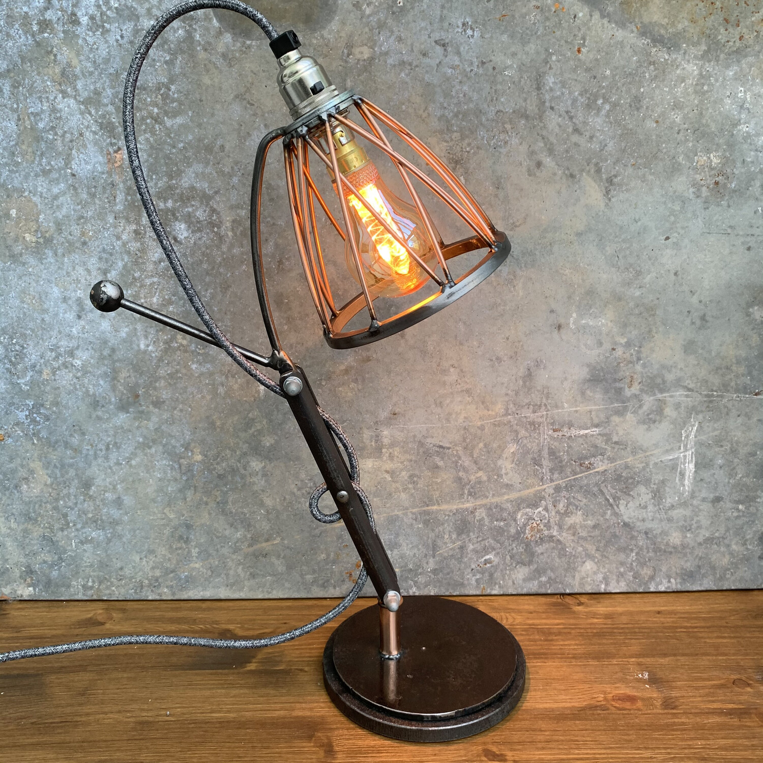 Industrial Steel And Copper Desk / Table Lamp 2