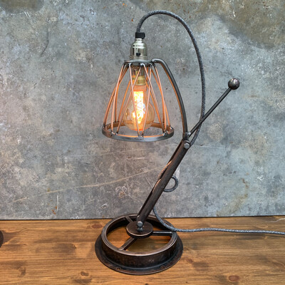 Industrial Steel And Copper Desk / Table Lamp 4