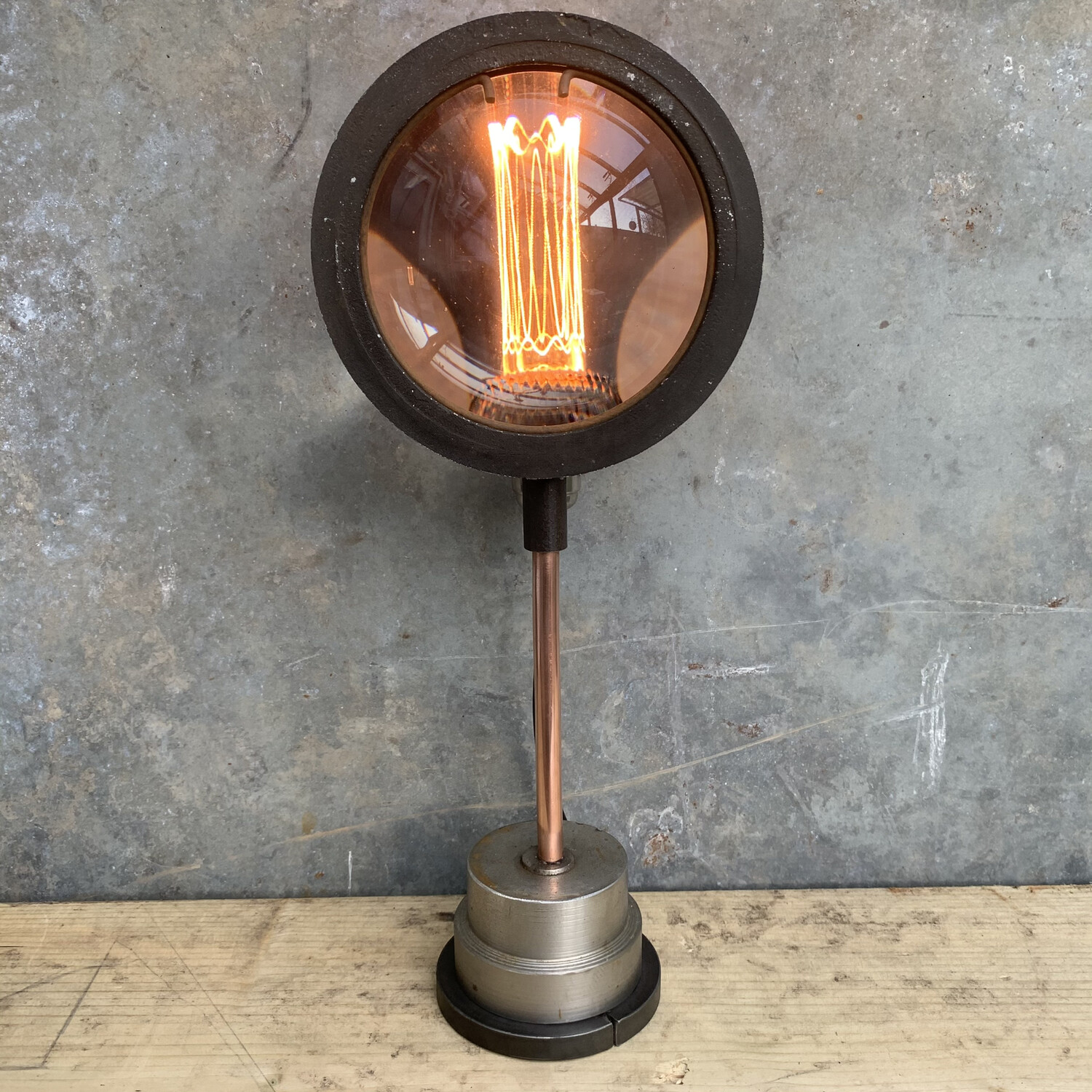Vintage Theatre Lamp Lens On Bespoke Stand 2