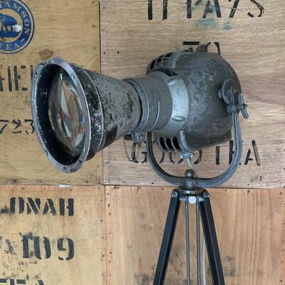 Vintage Theatre Lamp On Tripod (strand Patt23N)