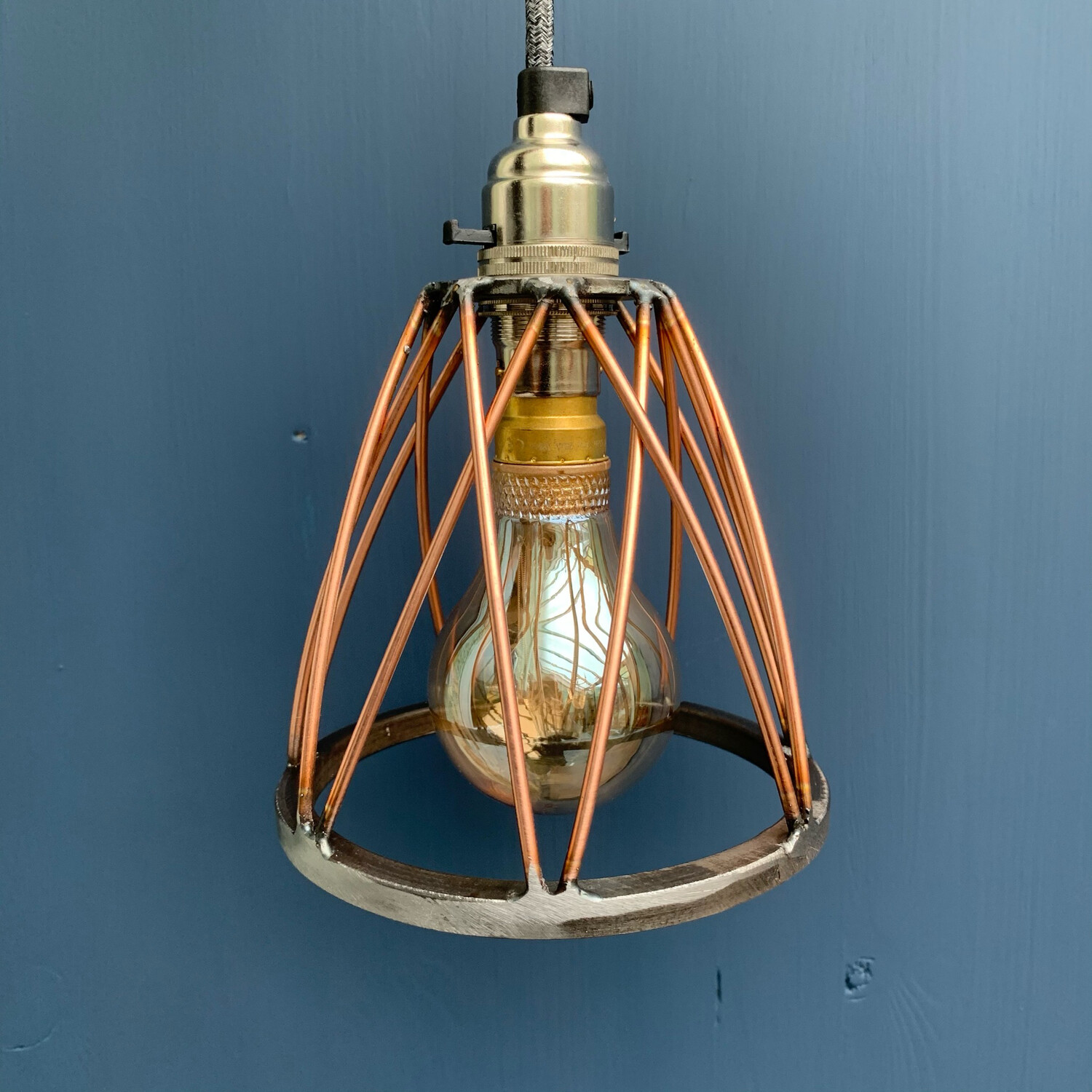 Steel And Copper Wire Cage Shade