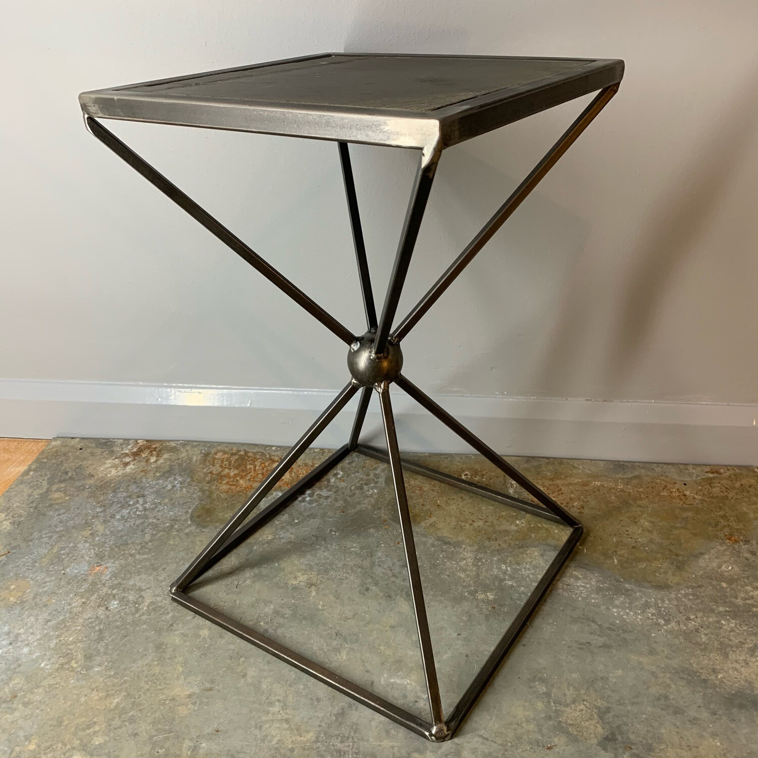 Slate Topped Side Table
