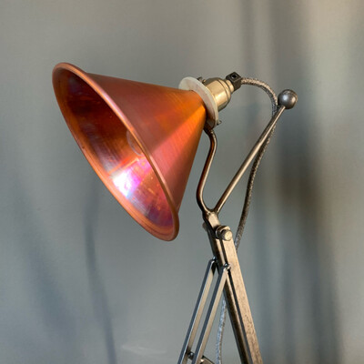 Copper Funnel Desk Lamp