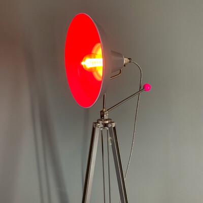 Colour Pop Industrial Tripod Lamp