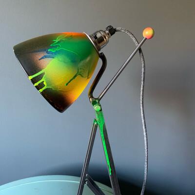 Neon Paint Industrial Desk Lamp