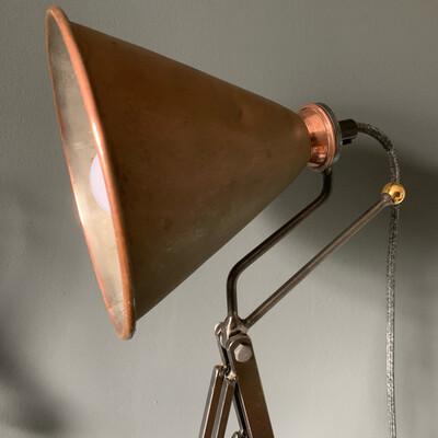 Vintage Copper Funnel Lamp