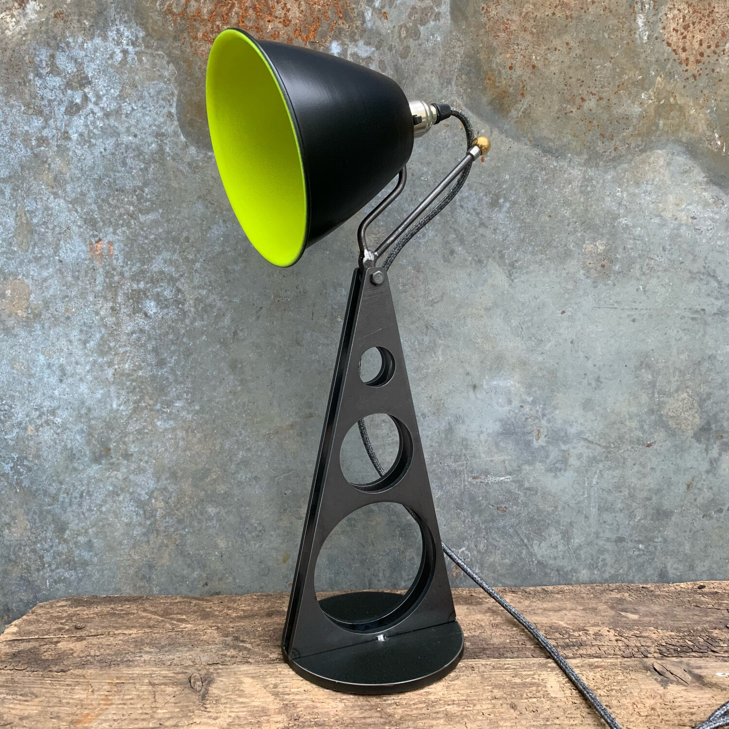 Industrial Desk Lamp Black, Green