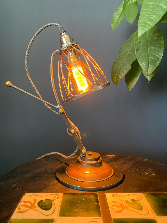 Industrial Steel, Copper Desk/table Lamp