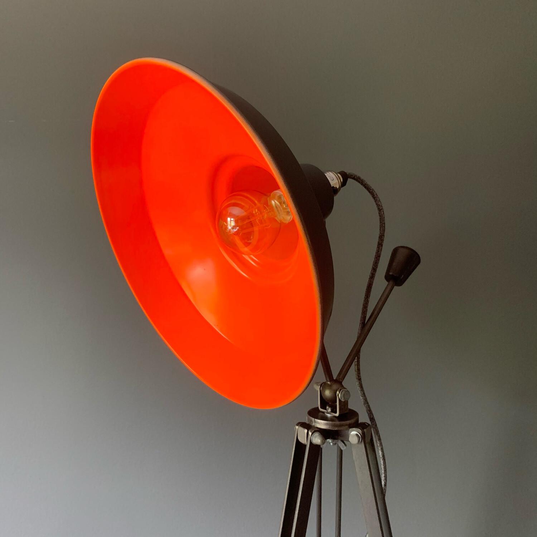 Grey/Orange Tripod Lamp