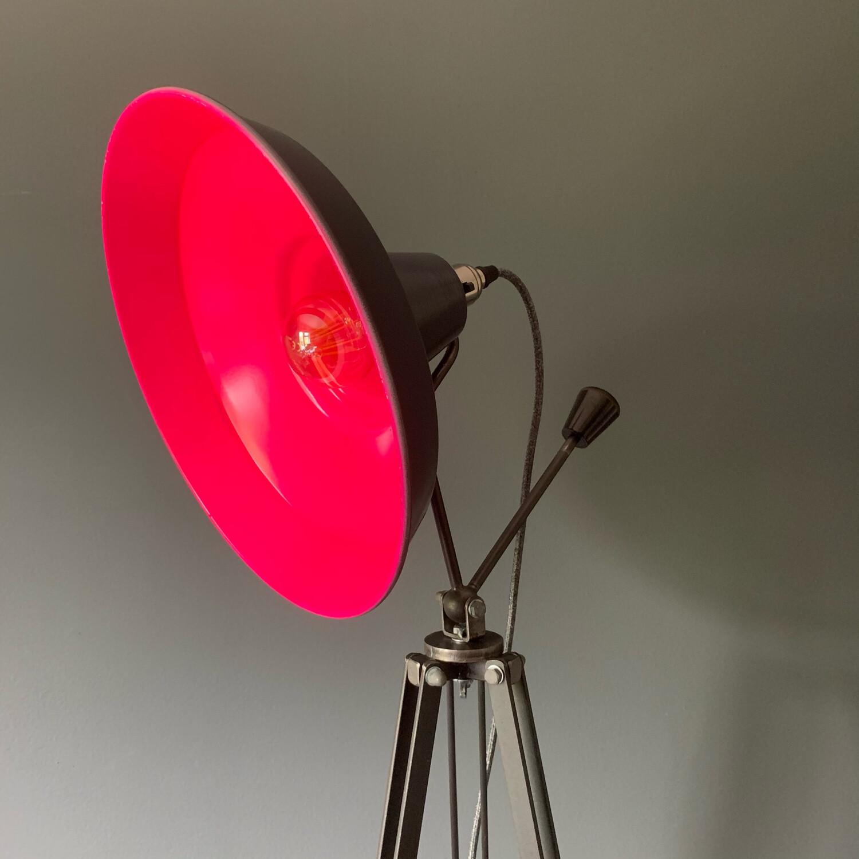 Pink/Grey Tripod Lamp