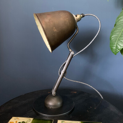 Industrial Articulated Lamp With Vintage Copper Shade
