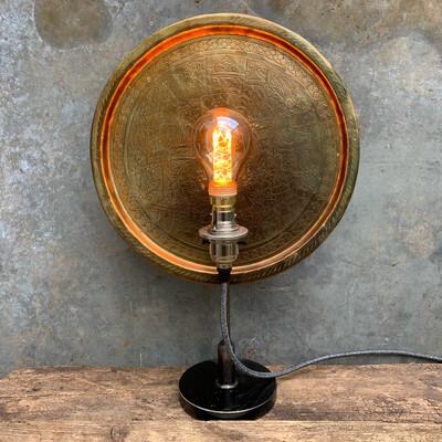 Vintage Brass Industrial Table Lamp