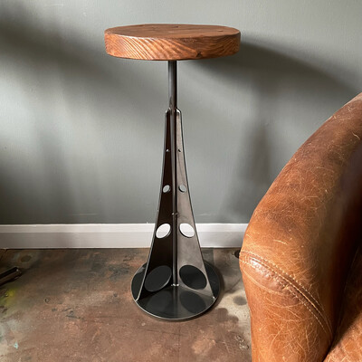 Industrial Steel Side Table/Sculpture, Plant Stand