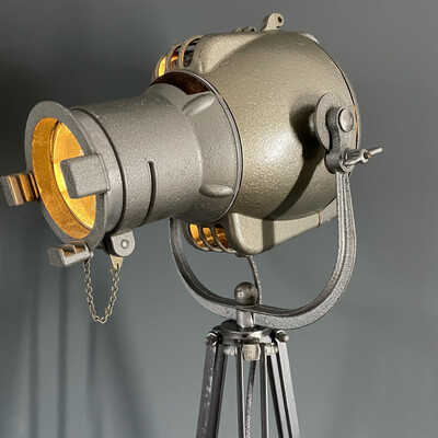 Vintage Strand 23 Theatre Lamp Lens On Bespoke Tripod