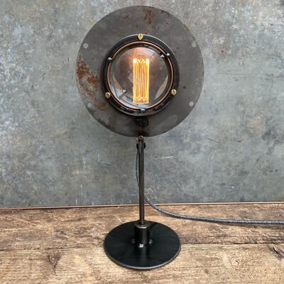 Vintage Lens On Bespoke Steel  Stand