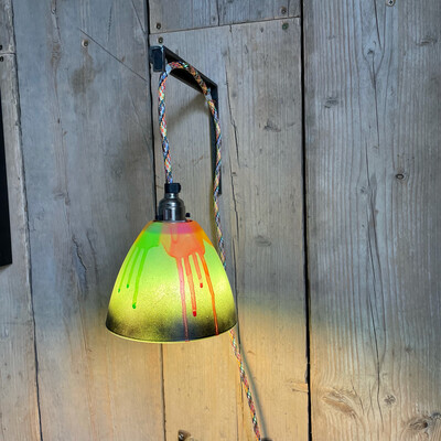 Graffiti Plug In Wall Lamp