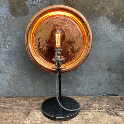 Vintage Copper Plate Lamp