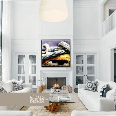 40x40 Purple/harbor canvas fine print