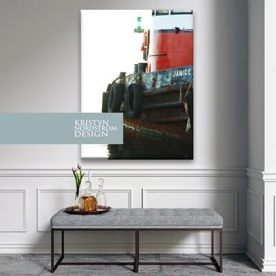 30x40 Canvas fine print redtug