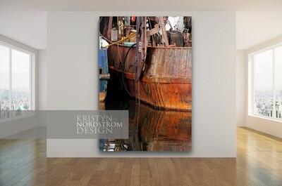 40x60 Rusty harbor fine canvas print.
