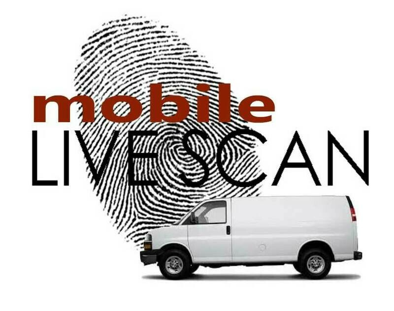 Mobile Livescan - We Come to You!