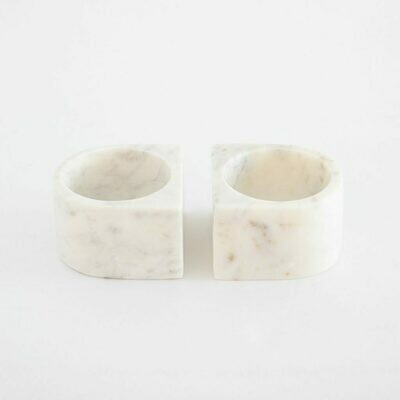 MARBLE PINCH POTS, SET OF 2