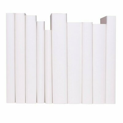 WRAPPED BOOKS, white paper